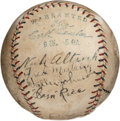 Autographs:Baseballs, Early 1920's Walter Johnson, Clark Griffith & More SignedBaseball....