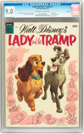 Golden Age (1938-1955):Cartoon Character, Dell Giant Comics: Lady and the Tramp #1 File Copy (Dell, 1955) CGCVF/NM 9.0 Off-white to white pages....