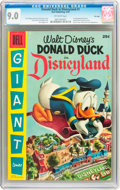 Golden Age (1938-1955):Cartoon Character, Dell Giant Comics: Donald Duck in Disneyland #1 File Copy (Dell,1955) CGC VF/NM 9.0 Off-white pages....