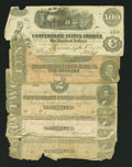 Confederate Notes:Group Lots, Five Low-Grade Confederate Notes Fair or Better.. ... (Total: 5notes)
