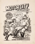 Original Comic Art:Covers, Robert Crumb Motor City Comics #1 Cover Original Art (LastGasp/Rip Off Press, 1969)....