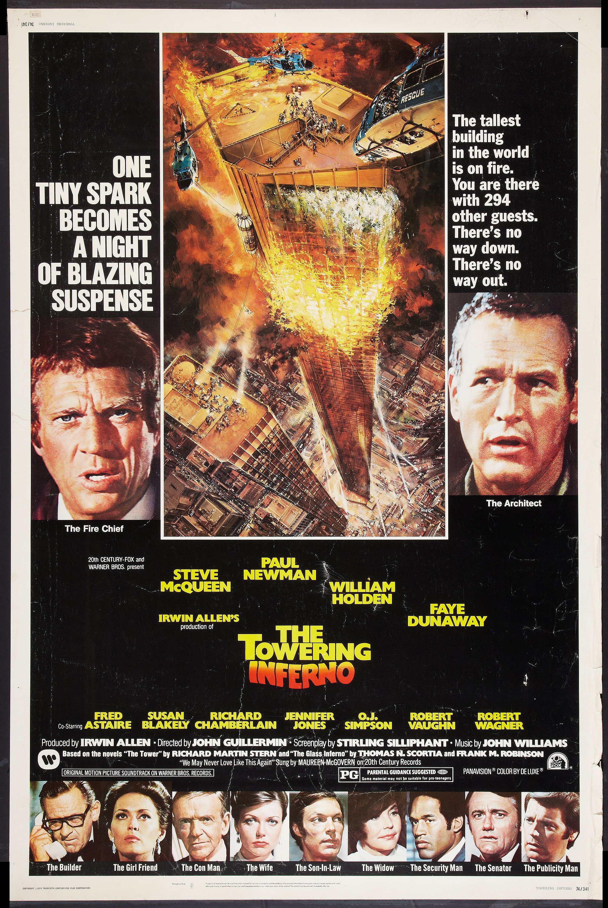 "The Towering Inferno (20th Century Fox, 1974). Poster (40"" X 60 ..."