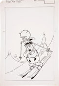 Original Comic Art:Covers, Tony DiPreta The Great Gazoo Cover Original Art (Charlton,c. 1977)....