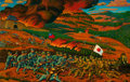 Post-War & Contemporary:Contemporary, HUANG QIHOU (Chinese, b. 1950). Battle of Hengyang. Oil oncanvas. 24 x 39 inches (61.0 x 99.1 cm). ...