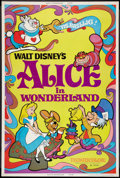 "Movie Posters:Animation, Alice in Wonderland (Buena Vista, R-1974). Poster (40"" X 60"").Animation.. ..."