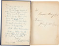 Autographs:Others, 1923 John McGraw & Christy Walsh Signed Book....