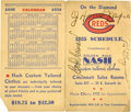 Autographs:Others, 1935 Honus Wagner & Pie Traynor Signed Schedule....