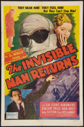 "Movie Posters:Horror, The Invisible Man Returns (Realart, R-1948). One Sheet (27"" X 41"").Horror.. ..."