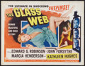 "Movie Posters:Crime, The Glass Web (Universal International, 1953). Half Sheet (22"" X28"") Style B. Crime.. ..."
