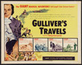 "Movie Posters:Animated, Gulliver's Travels (NTA, R-1957). Half Sheet (22"" X 28"").Animated.. ..."