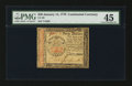 Colonial Notes:Continental Congress Issues, Continental Currency January 14, 1779 $40 PMG Choice Extremely Fine45.. ...