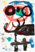 Prints:European Modern, JOAN MIRÓ (Spanish, 1893-1983). La vendangeuse (TheHarvester), 1964. Lithograph in colors. 34-3/8 x 24-1/4 inches(87.4...