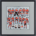 Hockey Collectibles:Photos, 1932-33 Montreal Canadiens Club Issued Team Illustration Print....