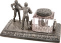 Boxing Collectibles:Memorabilia, 19th Century Boxing Figural Ink Well....