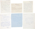 Golf Collectibles:Autographs, 1920-79 Legends of Golf Handwritten Signed Letters Lot of 6 withKirkaldy, Laidlay....