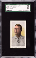 Baseball Cards:Singles (Pre-1930), 1910-11 M116 Sporting Life Cy Young SGC 70 EX+ 5.5....