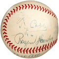 Autographs:Baseballs, Circa 1950 Hall of Famers Multi-Signed Baseball with Cobb, Ott & Hornsby....