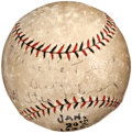 Autographs:Baseballs, 1925 Walter Johnson Single Signed Baseball....