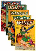 Golden Age (1938-1955):War, Wings Comics Group (Fiction House, 1948-53).... (Total: 5 ComicBooks)