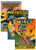 Golden Age (1938-1955):War, Wings Comics Group (Fiction House, 1945-47).... (Total: 6 ComicBooks)
