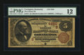 National Bank Notes:Kentucky, Covington, KY - $5 1882 Brown Back Fr. 471 The Citizens NB Ch. #(S)4260. ...