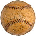 Autographs:Baseballs, 1927 Washington Senators Team Signed Baseball with Babe Ruth....