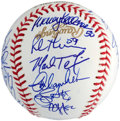 Baseball Collectibles:Balls, 2009 New York Yankees Team Signed Baseball - World SeriesChampions!...