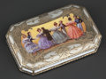 Silver Smalls:Snuff Boxes, A VIENNESE SILVER GILT AND ENAMEL BOX . Maker unidentified, Vienna,Austria, circa 1930. Marks: AHS, (hoopoe bird, 1, W)...