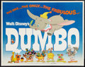 "Movie Posters:Animated, Dumbo (Buena Vista, R-1972). Half Sheet (22"" X 28"") and Photos (2).Animated.. ... (Total: 3 Items)"