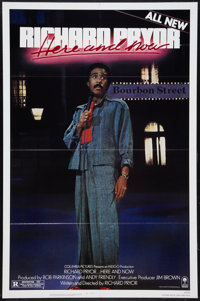 "Richard Pryor...Here and Now Lot (Columbia, 1983). One Sheets (2) (27"" X 41""). Comedy"