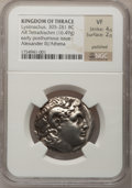 Ancients:Greek, Ancients: Greek. Lysimachus of Thrace. 305-281 BC. ARtetradrachm....