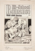Original Comic Art:Covers, Hi-School Romance #32 Cover Original Art (Harvey, 1955)....