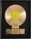 Music Memorabilia:Awards, The Rolling Stones Exile On Main St. RIAA Gold AlbumAward....