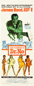 "Movie Posters:James Bond, Dr. No (United Artists, 1962). Insert (14"" X 36"").. ..."