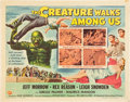 """Movie Posters:Horror, The Creature Walks Among Us (Universal International, 1956). Half Sheet (22"""" X 28"""") Style A.. ..."""