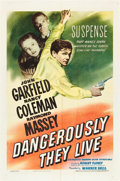 """Movie Posters:War, Dangerously They Live (Warner Brothers, 1942). One Sheet (27"""" X41"""").. ..."""
