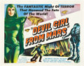 "Movie Posters:Science Fiction, Devil Girl From Mars (Spartan, 1955). Half Sheet (22"" X 28"").. ..."