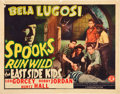"Movie Posters:Comedy, Spooks Run Wild (Monogram, 1941). Half Sheet (22"" X 28"").. ..."