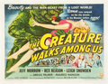 "Movie Posters:Horror, The Creature Walks Among Us (Universal International, 1956). HalfSheet (22"" X 28"") Style B.. ..."