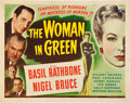 "Movie Posters:Mystery, The Woman in Green (Universal, 1945). Half Sheet (22"" X 28"").. ..."