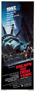 "Movie Posters:Science Fiction, Escape from New York (Avco Embassy, 1981). Insert (14"" X 36"").. ..."