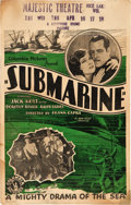 "Movie Posters:Action, Submarine (Columbia, 1928). Window Card (14"" X 22"").. ..."