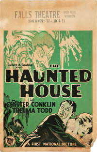 "The Haunted House (First National, 1928). Window Card (14"" X 22"")"