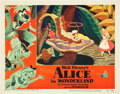 "Movie Posters:Animation, Alice in Wonderland (RKO, 1951). Lobby Card (11"" X 14"").. ..."