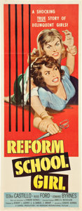 "Movie Posters:Bad Girl, Reform School Girl and Girls in Prison Lot (American International,1956-1957). Inserts (2) (14"" X 36"").. ... (Total: 2 Items)"