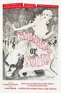 "Movie Posters:Horror, Carnival of Souls (Herts-Lion International, 1962). One Sheet (27""X 41"").. ..."
