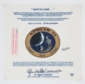 "Explorers:Space Exploration, Apollo 14 Flown Special Edition ""Earth Our Cradle"" Beta ClothMission Insignia Patch Originally from the Personal Collection o..."