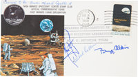 Apollo 11 Flown Crew-Signed Commemorative Cover Directly from the Personal Collection of Mission Command Module Pilot Mi...