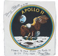Explorers:Space Exploration, Apollo 11 Flown Beta Cloth Mission Insignia Originally from thePersonal Collection of Mission Lunar Module Pilot Buzz Aldrin,...