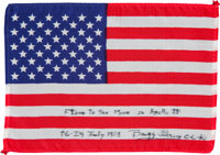 Apollo 11 Flown American Flag Originally from the Personal Collection of Mission Lunar Module Pilot Buzz Aldrin, Signed...